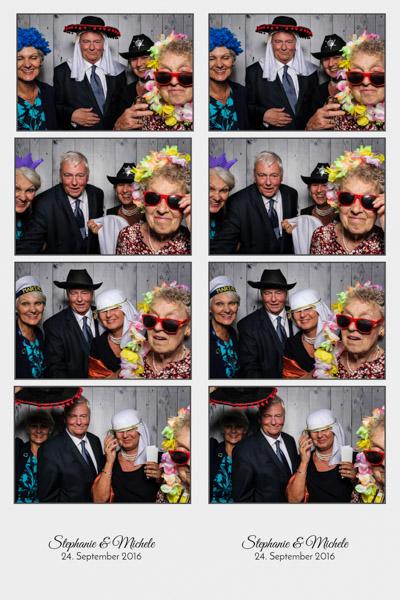 Fotobox mit Requisiten für Hochzeit in Ulm mieten